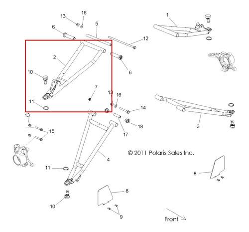 Braço De Suspensão Superior Frontal Ld Branco #pn1018200-133