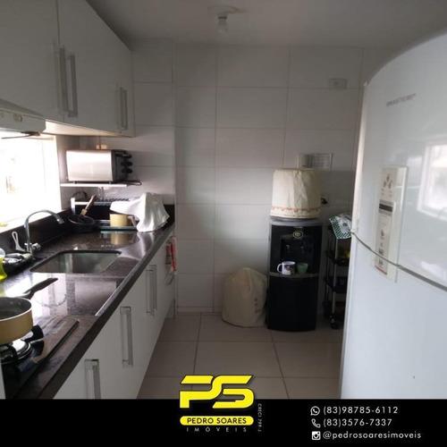 (oportunidade)  Apartamento Com 3 Dormitórios À Venda, 102 M² Por R$ 330.000 - Intermares - Cabedelo/pb - Ap4537