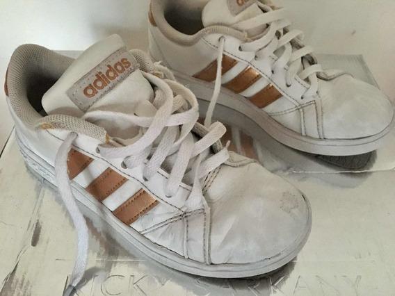 Zapatillas adidas Blancas Infantiles Talle 13k Usa (18,5 Cm