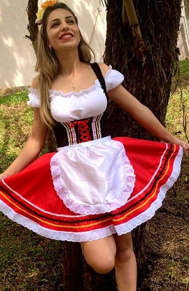 Traje Alemão Vermelho/preto 36 Ao 44 Fabricação Própria