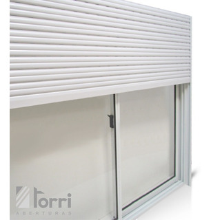 Ventana Aluminio Blanco 150x110 Cortina Pvc Y Mosquitero