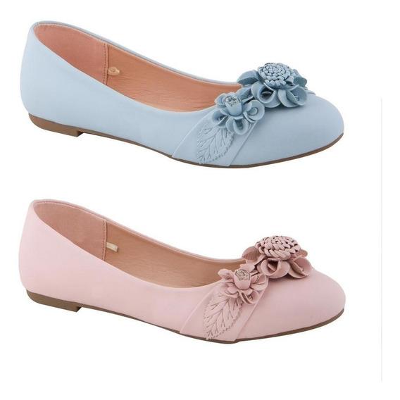 Kit De 2 Balerina Casual Pink By Price Shoes 7177 San 184948