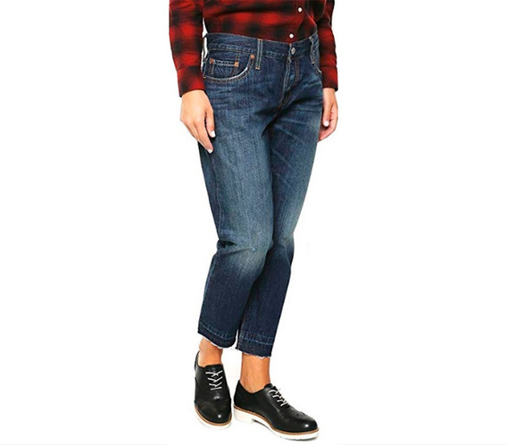 Jeans Levis Mujer 501 Pantalones Cropped And Tapered 25x32