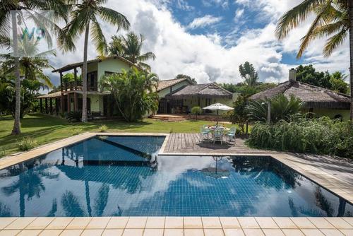 Casa Resort Com 4 Dormitórios À Venda, 437 M² Por R$ 3.200.000 - Village Iii - Porto Seguro/ba - Ca0014