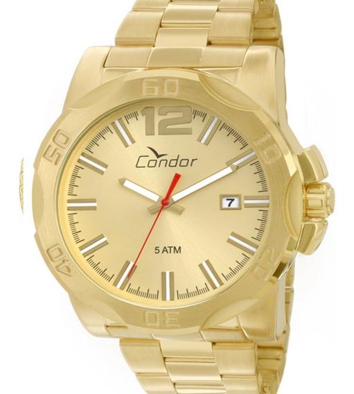 Relógio Condor Original Masculino Dourado Co2415aa/4x C/ Nf