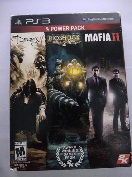 Pack Com 3 Games Clássicos Ps3 Darkness Mafia Bioshock Usado