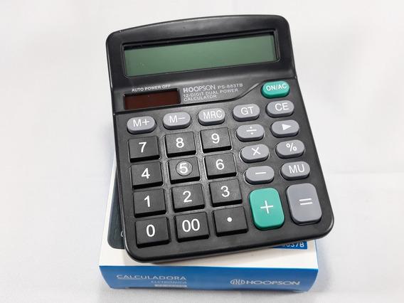 Calculadora Eletrônica 12 Digitos Truly 837 A Pilha 2 Un.
