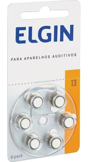 Pilha Para Aparelho Auditivo 13 Zinco 6 Unid Elgin