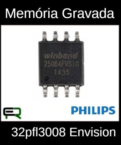 Memória Gravada Tv Philips 32pfl3008 Envision Frete Grátis