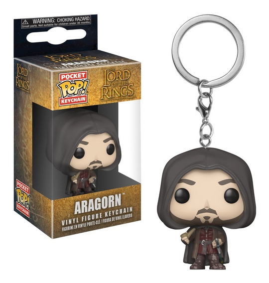 Senhor Dos Anéis Chaveiro Mini Boneco Pop Funko Aragorn