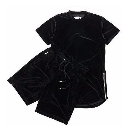 Camisa Camiseta E Shorts Masculino Veludo Moda 2017