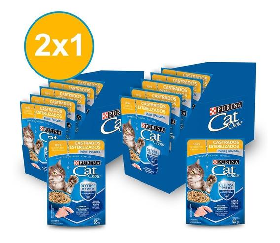 Alimento Húmedo Cat Chow® Adultos Esterilizado Pescado (2x1)