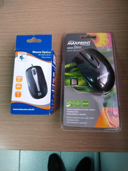 Mouse Óptico Usb Preto Wise Ou Maxprint