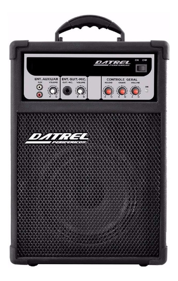 Caixa Multiuso Datrel Dmu 8 50w P/ Dvd iPhone Karaoke Game