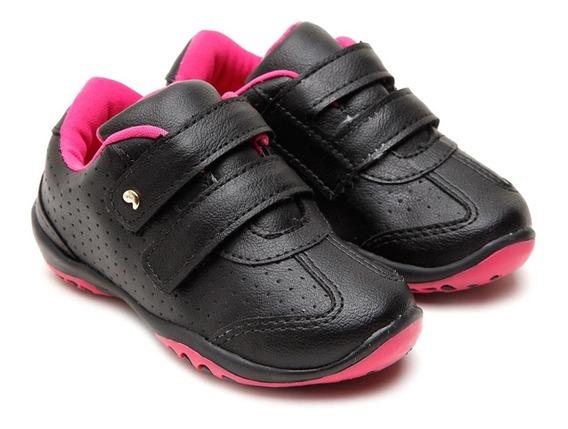 Atacado! Tenis Sapato Femenino Preto Rosa - Envio Já