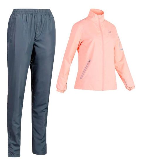 Conjunto Deportivo Topper Premium Mujer Rosa Con Gris