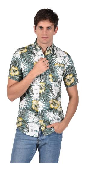 Camisa Classic Fit Chaps Verde 750689186-3044 Hombre