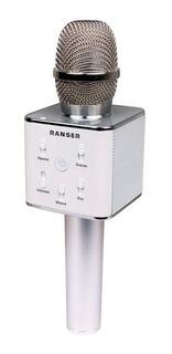 Micrófono Inalámbrico Karaoke Ranser Mc-ra70 Parlante Bt Eps