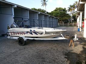 Lancha 15 Pés - Pesca E Lazer - Ñ Bass Boat - Completa!