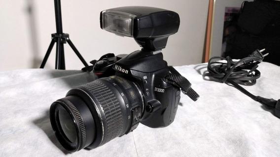 Câmera Nikon D3000 + Flash Sb400 + Acessórios