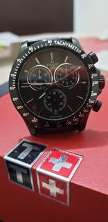 Relógio Tissot T-sport V8 Preto Pulseira De Couro