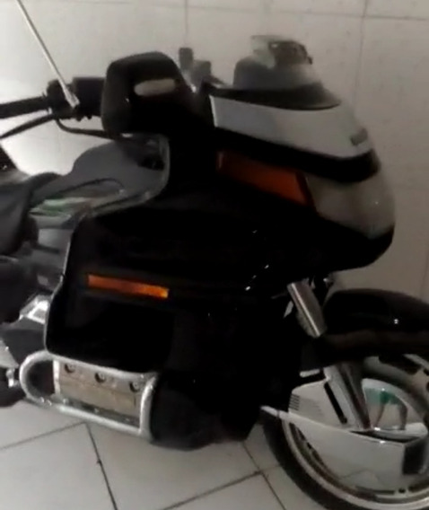 Moto Honda Gold Wing Preta Anos 90 1500cc 6 Cilindros