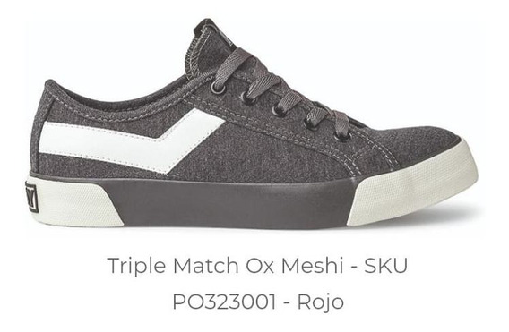 Zapatillas Pony. Triple Match Ox Mesh Negro