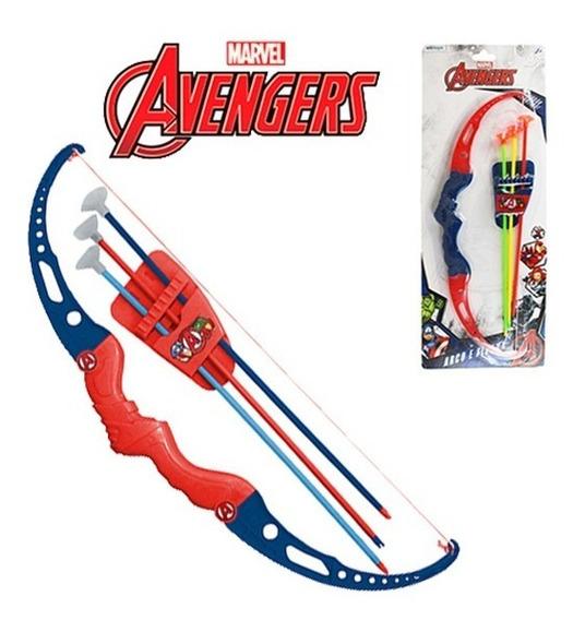Arco E Flecha Infantil Brinquedo Com 3 Ventosas Vingadores