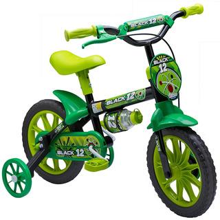 Bicicleta Infantil Mtb Aro 12 Masculina Verde Nathor