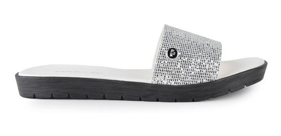 Zuecos Zapatos De Mujer Sandalias Plata Salinas - Ferraro -