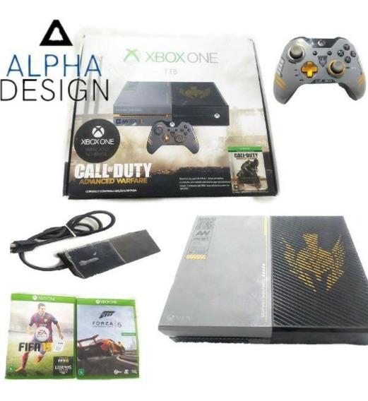 Xbox One Elite 1tb Usado Edição Call Of Duty Caixa Perfeito
