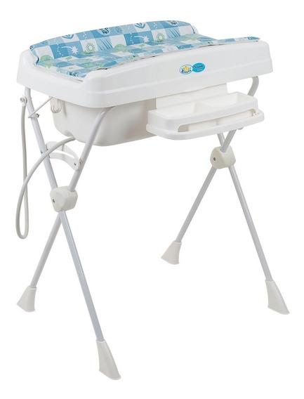 Banheira Para Bebê Banho Burigotto Millenia Peixinhos Azul
