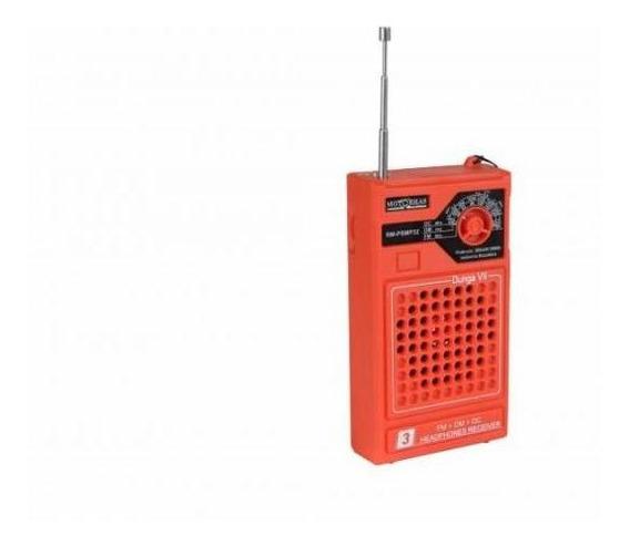 Rádio Portátil Motobras Rm-psmp32 - Om/fm/oc, Laranja