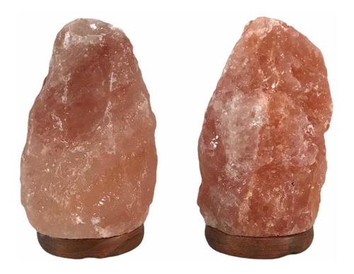 Imagen 1 de 5 de 2 Lámparas De Sal Himalaya  14 -17cm  Con Envio Gratis