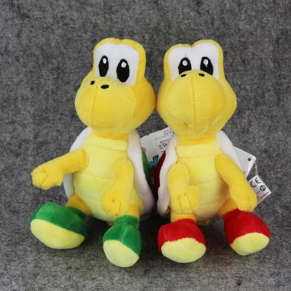 Boneco Pelúcia Koopa Troopa 17 Cm Super Mario Nintendo 2unid