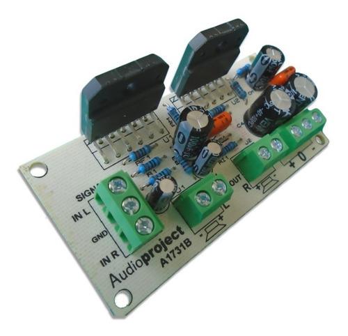 Modulo Amplificador Estereo 68+68 W C/ Lm3886 Audioproject
