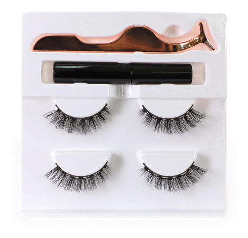 Magnetic Eyeliner And Lashes Kit No Glue False Eyelashes Mag