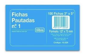 Ficha Pautada Nº1 3x5 Tilibra 500 Fichas