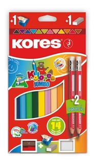 Colores Jumbo X 12 + 2 Lapices Coa - Unidad a $1325