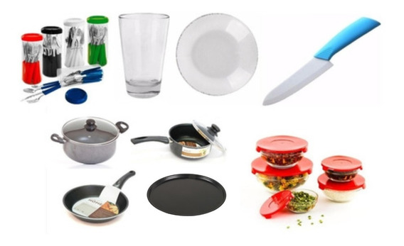 Set Vajilla Juego Completo Cuchillo Ceramica Bateria Cocina