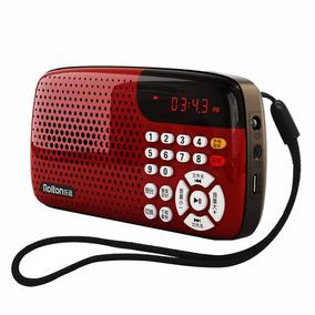 Rádio Rolton W105 Fm Suporte Cartão Tf Display Led Vermelho