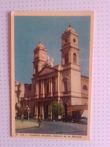 Antigua Postal Bahia Blanca Catedral Sra De La Merced