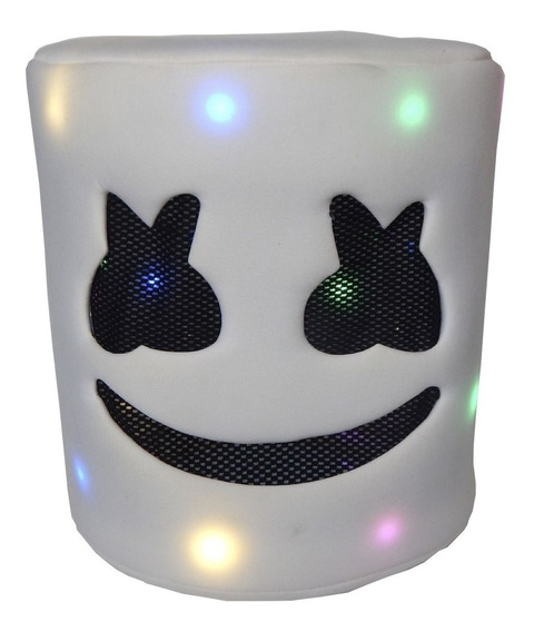 Niños Mascara Marshmello Dj Casco Blanco Con Luz Led Musica