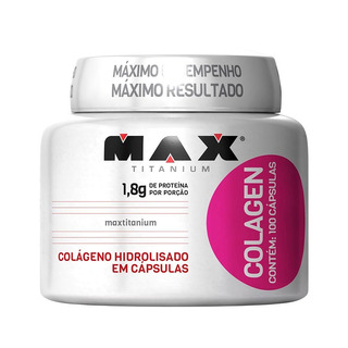 Colageno Hidrolisado - 100 Cápsulas - Max Titanium