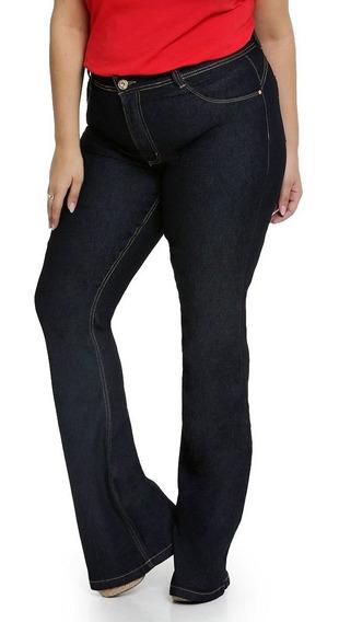 Calça Jeans Flare Feminina Plus Size Biotipo