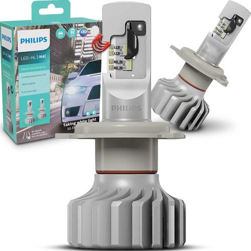 Imagem 1 de 7 de Par Kit Lâmpada Led Philips Ultinon Pro 5000 Branca H4 P43t
