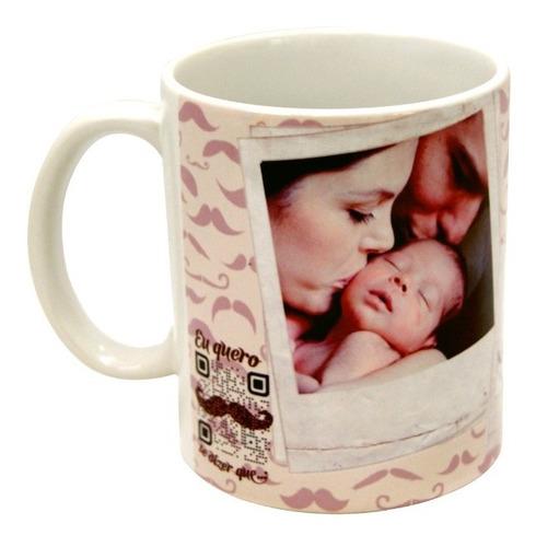 Imagem 1 de 5 de Caneca Personalizada Dia Das Mães Com Foto E Vídeo
