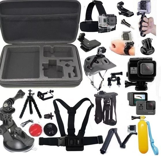 Kit P Gopro Hero 5 6 Hero 7 Blk Estanque 3 Way Pelicula Mala