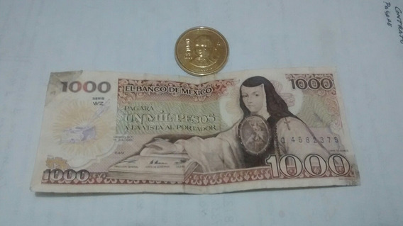 Moneda Y Billete Sorjuana De Asbaje $1000 Pesos