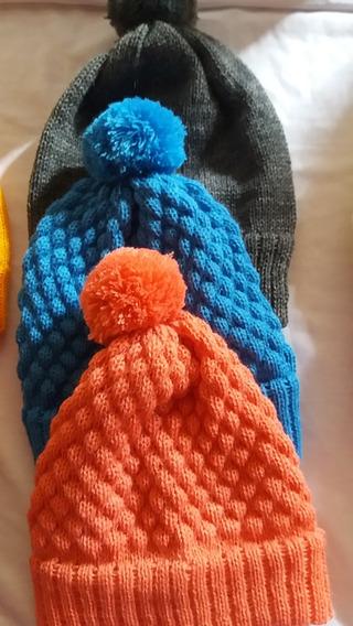 Kit 3 Touca Trico Lã Recem Nascido 0 A 1 Meses Menino (a)